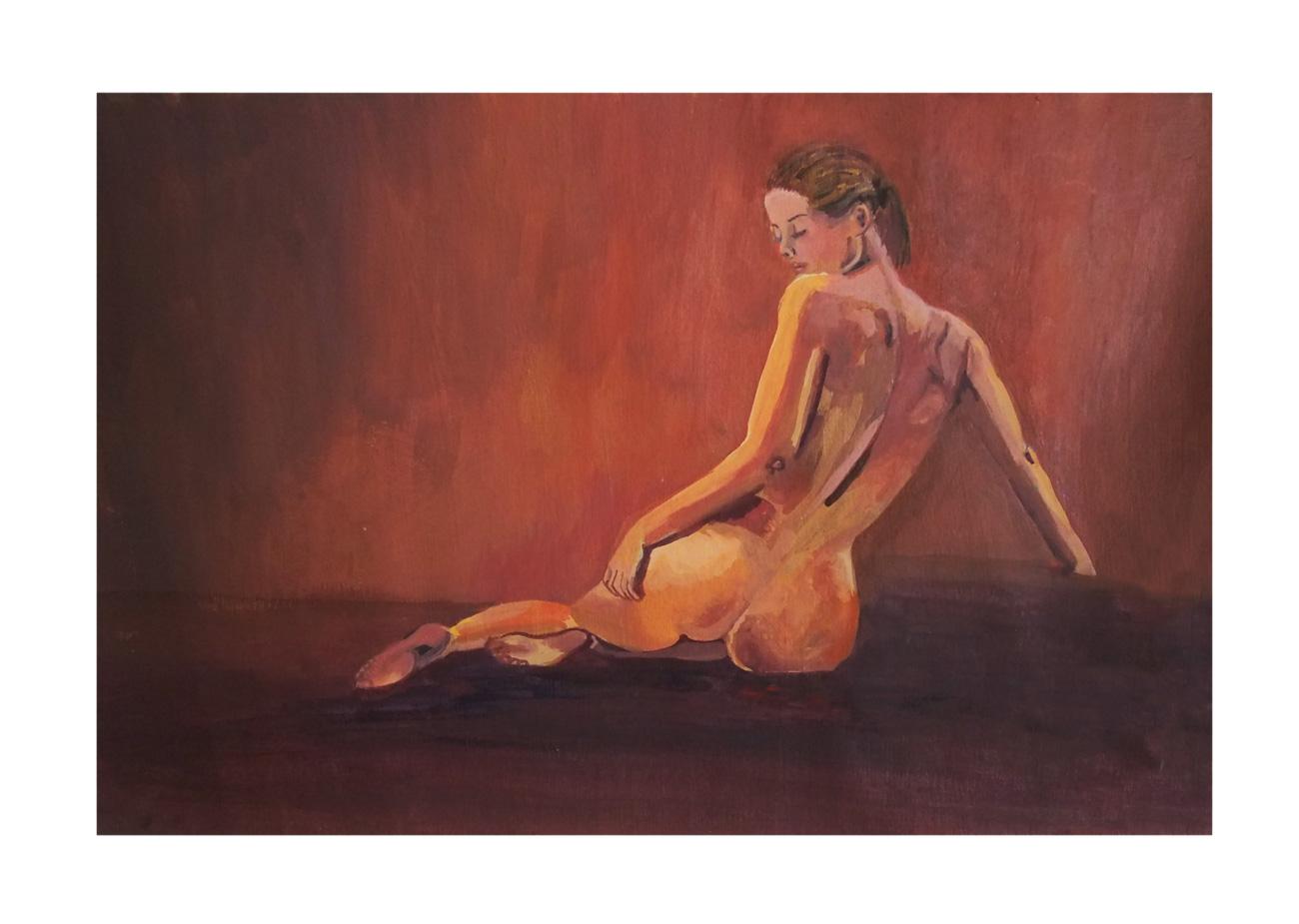 Pintura de Mujer al acrílico