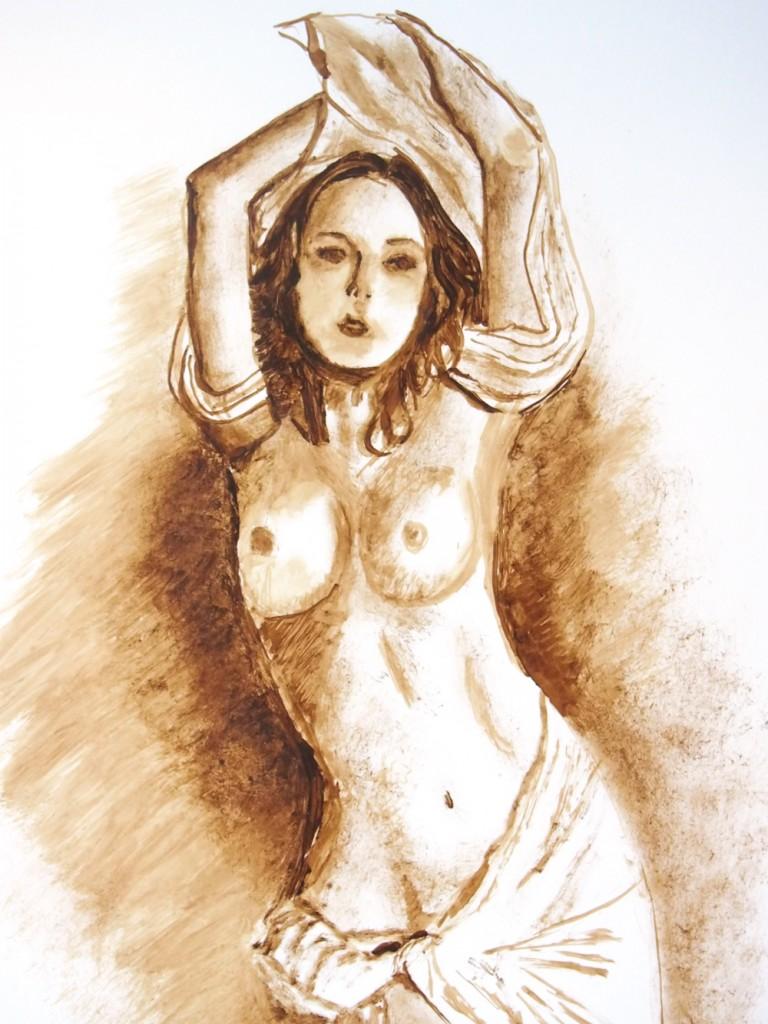 Pintura con Técnica de Chapopote